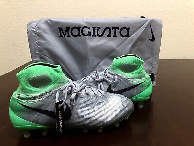 7593bc3e4d8 Nike Magista Obra II FG Flyknit Wolf Soccer Cleats Womens Size 9.5 (844205  053)