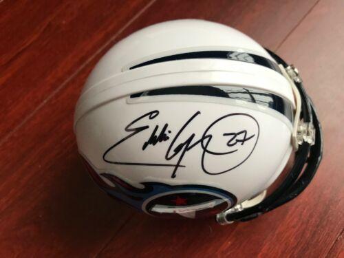 Tennessee Titans Eddie George Autographed Signed Mini Helmet COA #2