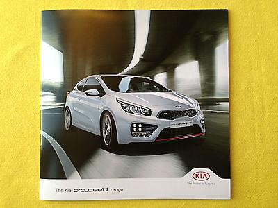 Kia Pro C'eed official car brochure sales catalogue March 2014 MINT CEED
