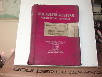 Austin Western 483b Parts Catalog For Pacer300 Super 300 Power Grader Manual