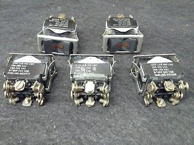 Carling Illuminated On Off On Rocker Switch Wchrome Trim Border Used Lot Of 5