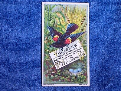 Thurbers Farinaceous Food-Bird Seed/Red-Winged Blackbird/Nest-Eggs/Trade Card
