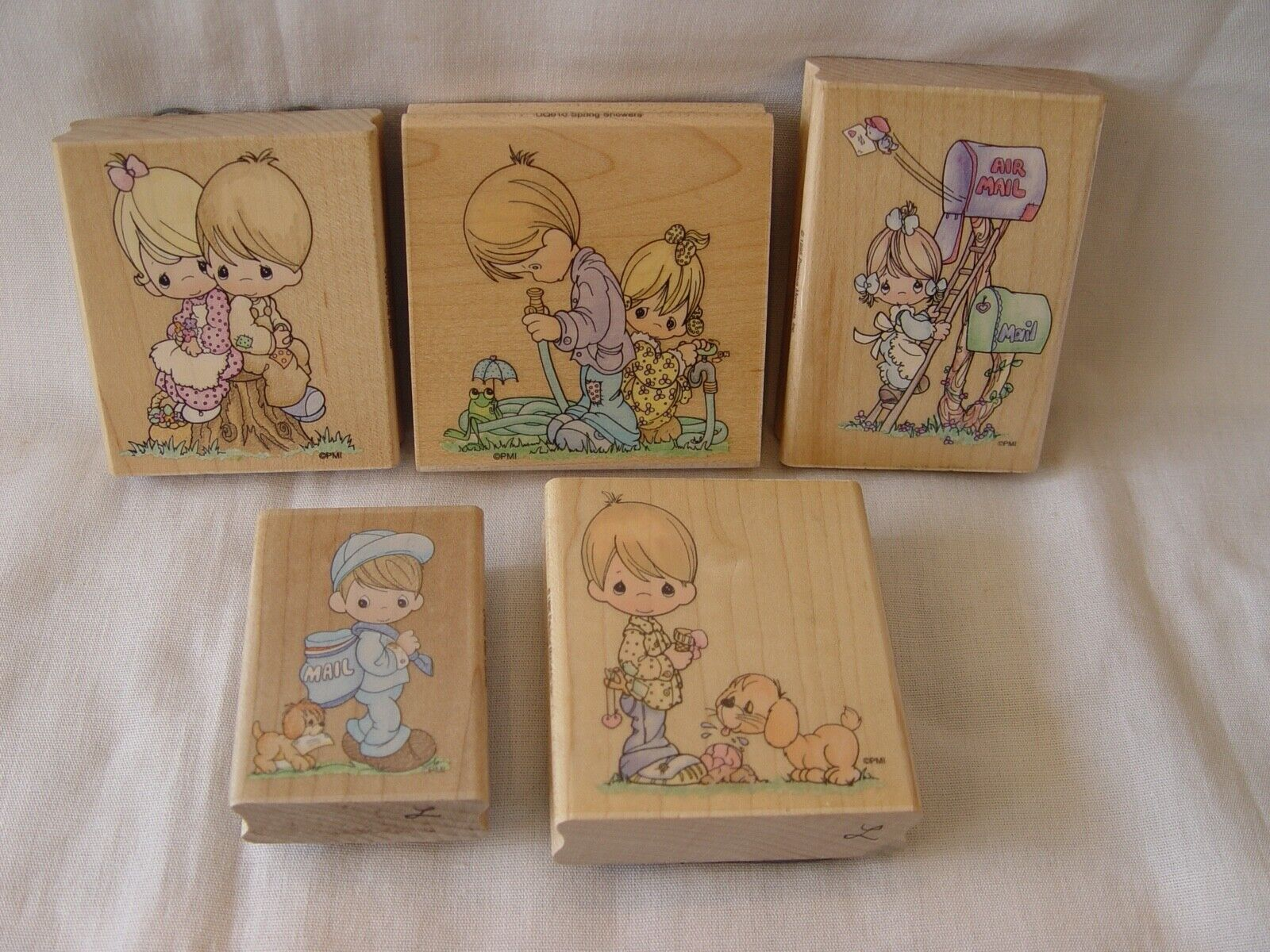 5 Different Stampendous PRECIOUS MOMENTS PM Rubber Stamps FREE SHIPPING  - $19.95