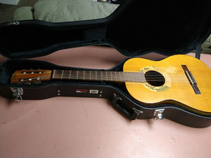 Vintage Gibson classical guitar with new Gator case.