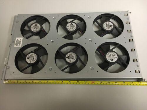 Fan Tray, 6 each brushless EFB1212HH DC 12V 0.45A 120x120x25 fans