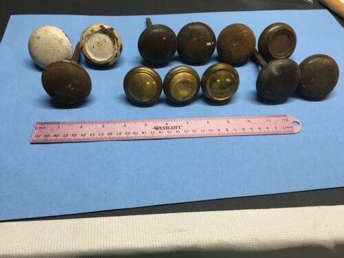 Lot of  12 Assorted Vintage Doorknobs