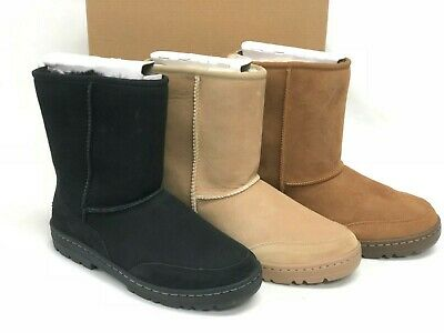 UGG Ultra Short Revival Women's Classic Boots 5225O Black Chestnut Sand Suede