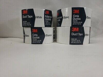 3m Duct Tape White Multipurpose Waterproofing 20 Yd. Pack Of 4 3920-wh