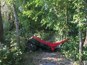 Light weight hammock and tree straps