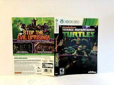 Nickelodeon Teenage Mutant Ninja Turtles Xbox 360 ARTWORK ONLY Authentic