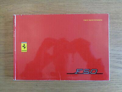 Ferrari F50 Owners Handbook/Manual