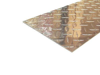 Aluminum Diamond Plate Flat Sheet .062 X 8 X 48 In. Uaac