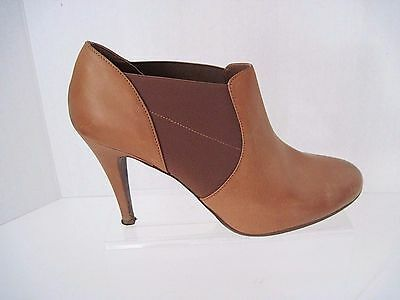 J.CREW $250 Booker Leather Booties boots Masala Chai brown ankle boots size 8
