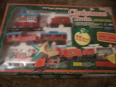 Christmas Animated Train Set Toy Set Battery Operated Parts-Engine not there