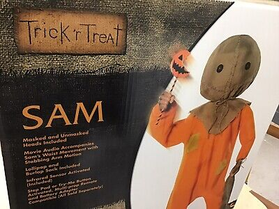 Trick R Treat Sam Animated Spirit Halloween 4.3 FT Prop New in Box!