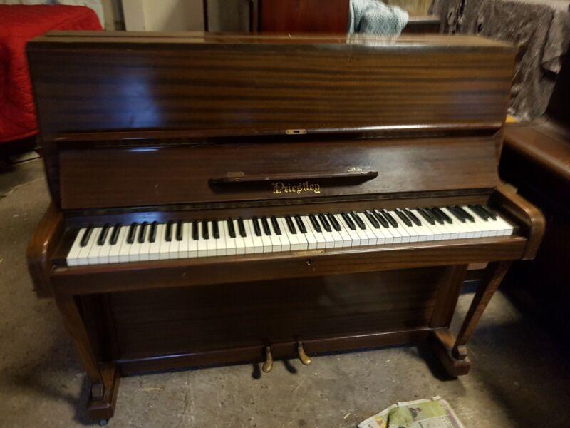 small upright piano