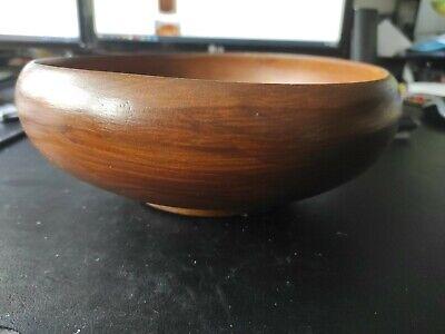 Lovely Vintage Hand Turned Wood Bowl / Fruit Bowl