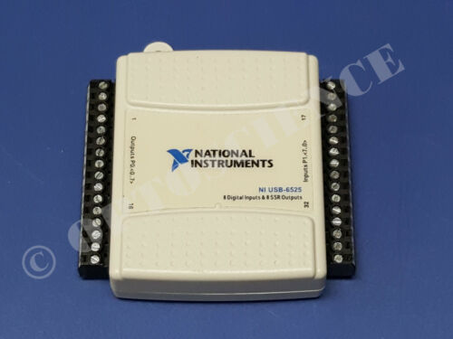 National Instruments USB-6525 Digital I/O / Relay Card, NI DAQ, 8ch SSR 8ch DI
