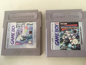 Contra Operation C and Robotector Gameboy games