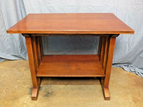 Rare Form Stickley Brothers Arts and Crafts Mission Oak Library Table