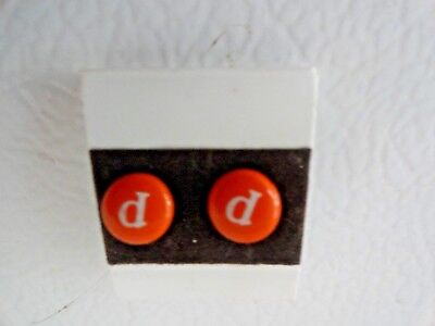Earrings Cute little M & M Candy Personalized Initial