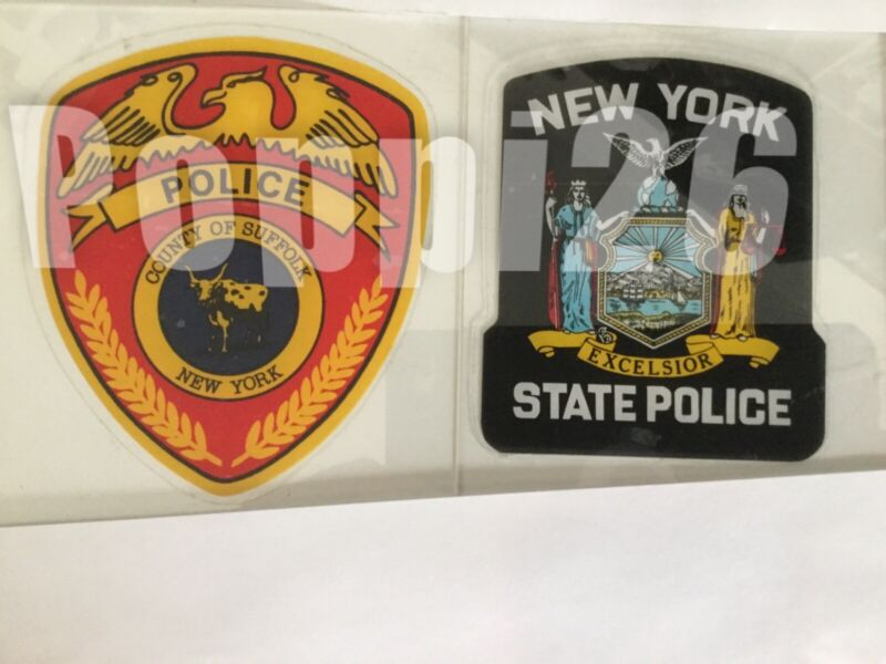 Suffolk County Police NY State Police OFFICIAL In/Window Face/Out Decal SticKer