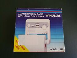 Windsor Restroom Radio Toilet Paper Holder AM/FM LCD Clock Siren Model 2626