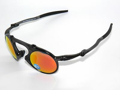 Clearance Oakley  Madman 6019 04 Dark Carbon Ruby Iridium Polarized Sunglasses