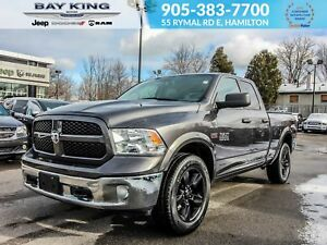 2017 Ram 1500 OUTDOORSMAN QUAD CAB 4X4, BLUETOOTH, BACK UP CAM,