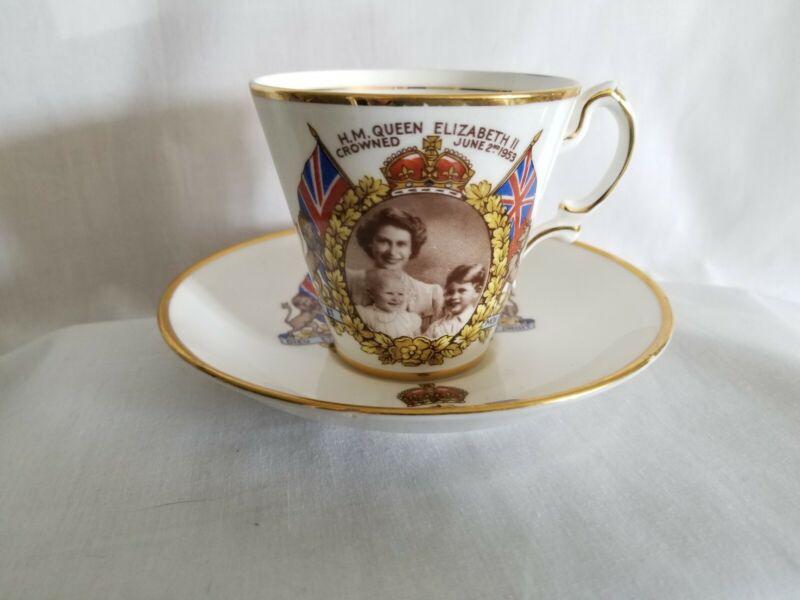 HM Queen Elizabeth 11 1953 Coronation Tea Set England  Marcus Adams Photo