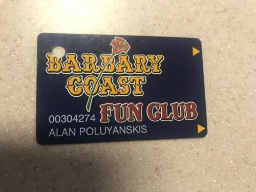 Barbary Coast Fun  Club Slot Card Las Vegas Nevada