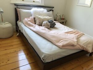 Double Bed - custom made, solid timber (with mattress)