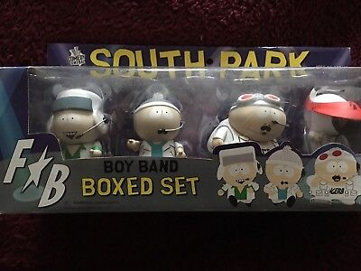 South park  boy band,   kenny cartman with Moustache  stan and kyle figure Set