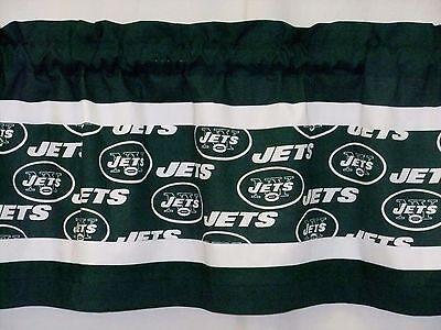 New York Jets NFL Football White Custom Valance Curtain Choose:40