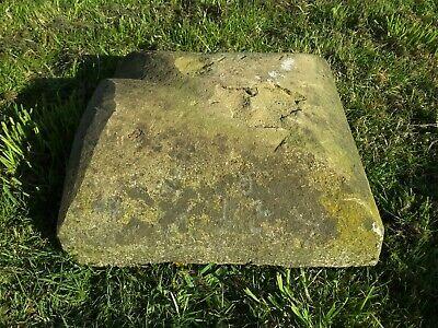 Reclaimed stone pillar cap / topper, pier cap, wall topper