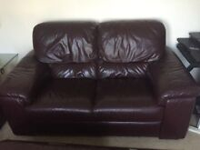 Lounge Suite - Genuine Leather Largs North Port Adelaide Area Preview