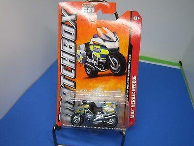 2013 Matchbox #114 BMW R1200 RT-P  Police Motorcycle