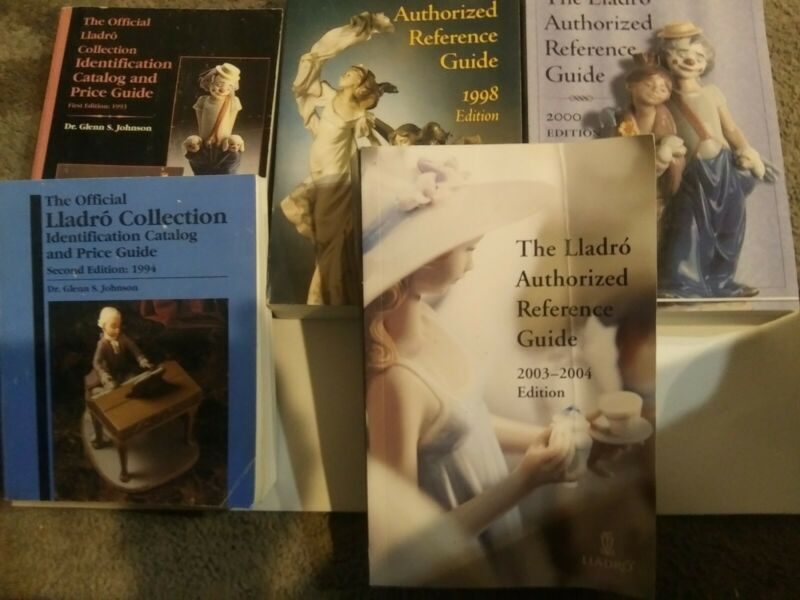 Lot of 5 Lladro Identification, Price guide   books