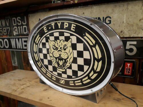 jaguar,e-type,automobilia,classic,display,mancave,lightup sign,garage,workshop