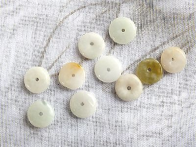 100 XS CHINESE JADE LUCK COIN CABOCHON BEAD JEWELLERY CRAFT CARD MAKING
