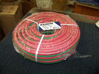 Radnor Welding Hose 14 Bb Fittings Grade R Twin Hose 100 Foot 64003327 New