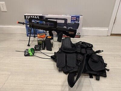 Cybergun Famas Electric Airsoft Gun 466FPS With Accessories