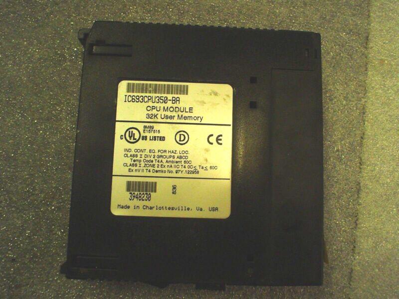 GE Fanuc IC693CPU350-BA CPU module 34K user memory no key - 60 day warranty