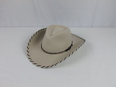Renegade Cowboy Hat XX Fur Blend 90% Wool 10% Fur Sz 7 1/4 USA Made New With Tag