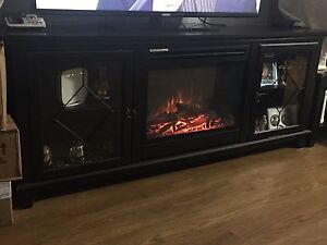 Electric. Fire place  tv stand
