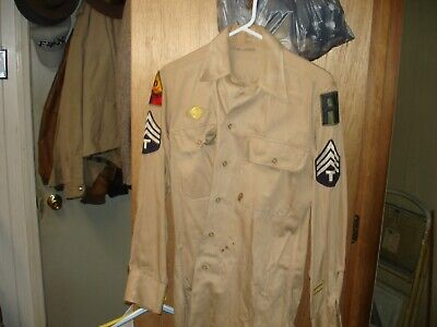 WW 2 U.S. Army Shirt W/ orig patches