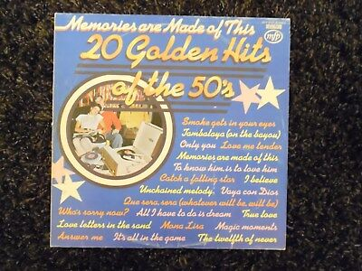 "20 Golden Hits Of The 50s 12"" Stereo Vinyl LP Memories Are Made Of This 1974"