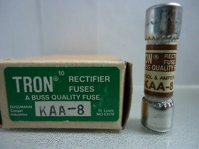New Lot Bussmann Tron KAA-8 Rectifier 8 Amp Fuses 130 Vac NIB for sale  Shipping to Canada