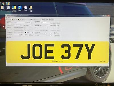 JOE 37Y  JOEY JOE CHERISHED PRIVATE NUMBER PLATE DVLA REG