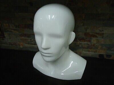 Speedo Free Standing Mannequin Head Male-white-store Display-sun Glasses-hats